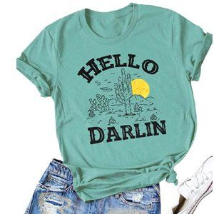 Hello Darlin Country Retro Graphic T-Shirt